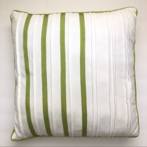 Other - 🌞NWOT  Square White & Green Striped Accent Pillow